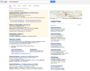 Ein Bekannter empfiehlt Ihnen das Hotel Post in Grainau! Wo werden Sie buchen? Direkt oder über eine Plattform? Prüfen Sie unbedingt die Suchergebnisse auf Google, wenn Sie Ihren Hotelnamen eingeben.